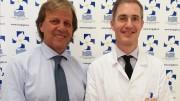 L'urologo Francesco Curto (a dx) accanto al presidente  della Fondazione Giglio Giovanni Albano