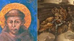 """San Francesco e il diavolo. Il genio del Male lo tormentava e lui ne parlò più volte, fornendo anche dei consigli per sconfiggerlo. ...Poiché non abbiamo motivo di dubitare che San Francesco e Padre Pio dicessero - al riguardo - la verità, notiamo come il Male sia """"talmente presente e concreto"""" che loro """"da santi"""" lo vedessero  in   forma reale. La santità di Francesco era tale che chiedesse al Signore """"...dammi fede ferma"""" . Anche lui raccontava di andare soggetto a forti tentazioni."""