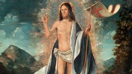 Uno splendido Cristo risorto, olio su tela, dipinto dal cremonese Altobello Melone (Cremona 1490/91-ante 1543) all'asta a Firenze mercoledì 12 ottobre 2018.
