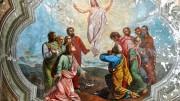 Resurrezione di Cristo in un antico affresco.