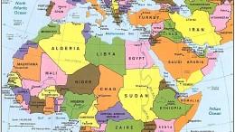 """Una cartina del Mediterraneo allargato: vari paesi dell'Africa, nonostante tutto crescono a 2 cifre. Molte sono le prospettive per un imminente """"Rinascimento"""""""