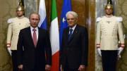 La Russia è vicina (ben più che la Cina):  ecco Putin con Mattarella. Un occhio alla Russia, al suo mercato, alla sua potenza è inevitabile. Potrebbe sfociare col tempo in forme di vera e propria alleanza. Oppure si andrà verso un'Europa egemonizzata dalla Russia? L'UE osteggia i trattati internazionali dei singoli stati e persino gli accordi transfrontalieri nel Mediterraneo.
