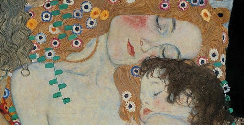 Klimt, Le tre età della donna (1905), particolare.