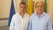 Edy Bandiera con il Dirigente generale alla pesca Rosolino Greco.