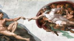 La creazione dell'uomo nella splendida immagine di Michelangelo. L'artista capiva ed esprimeva il mandato che Dio dava ad Adamo.