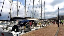"""Barche a vela """"offshore"""" a Capo d'Orlando,banchina di riva (foto G. Scargiali)"""