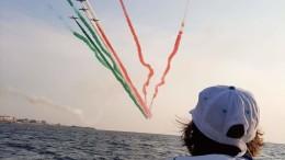 Frecce tricolori alla cerimonia di apertura a Reggio Calabria. Foto inviataci da Cv Kaukana.