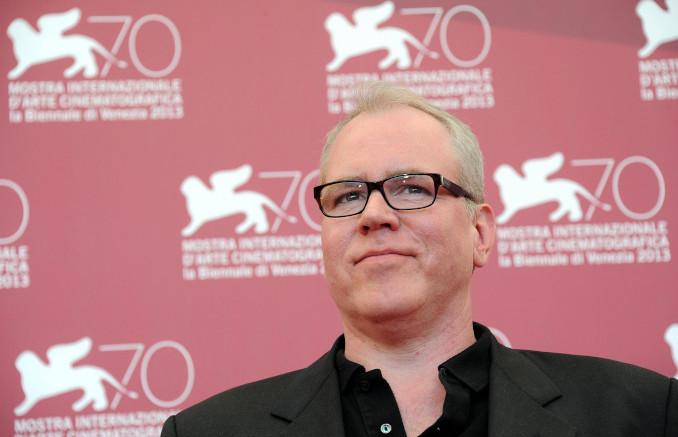 Bret Easton Ellis posa nel corso di una recente edizione del Festival del cinema di Venezia.