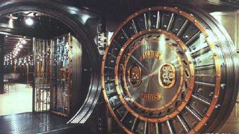 La cassaforte di una grande banca. Sono i favolosi caveau...