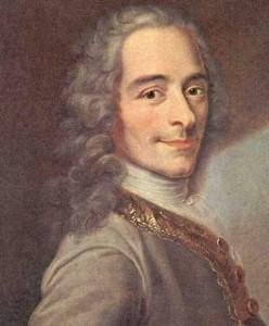 """Voltaire fa parte di una serie di affascinanti pensatori francesi. Profondi e scanzonati alcontempo erano vittimediondm,entalieori, ma """"gettarono sassi opportunimnella piccionaia"""