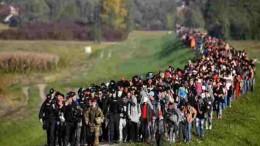 """Arrivano anche via terra. Questi dalla Bosnia : è un grande business, pagano 3000 euro ciascuno per far parte della carovana gridando """"Italia, Italia"""", ma anche Allah Akbar..."""