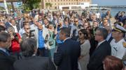 Folla di appassionati e giornalisti mentre parla Monti:  l'indiscrezione, non il comunicato ufficiale, era arrivata a molti. Se non altro con le news del mattino. (Ph. Angelo Modesto)