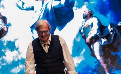 Vittorio Sgarbi grande e popolare esperto della pittura rinascimentale e barocca.