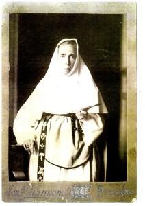 Una rara immagine dal vero di Suor Teresa Macaluso dei Sacri Cuori, fondatrice della Congregazione delle Suore del Sacro Cuore di Gesù e di Maria in Corso Calatafimi a Palermo.