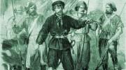 La Masa guida i suoi volontari nel maggio 1860 a Palermo. Da una stampa dell'epoca.