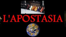 Un banner che simboleggia l'apostasia. Gli apostati si vantano di essere tali... La loro è un'anti fede, una confessione anch'essa, che stride con il concetto di laicismo, termine di cui, però, abusano. Ciò contribuisce alla confusione culturale presente oggi nella società civile.