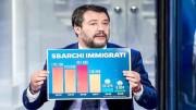 Salvinimostra lòe statistiche che gli danno ragione sull'immigrazione egli sbarchi. Sempre più Italia è con lui.