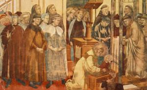 Così Giotto nella serie La legenda di San Francesco immagina il primo presepe a Greccio