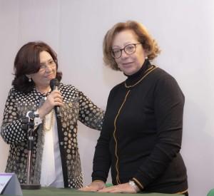 """L'attuale presidente Sandra La Porta e la """"past president"""" Rosa Rao attuale consigliera nazionale."""