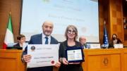 I titolari della Enzo Coppola Parrucchieri premiati a Roma.