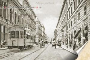 Che bello il tram in via Roma, quando ...non c'erano le automobili.