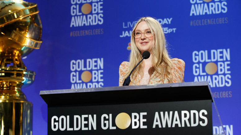 Dakota Fanning at the 77th annual Golden Globe Awards nominations on Monday December 9, 2019 from the Beverly Hilton Hotel in Beverly Hills, CA. The 77th Golden Globes are set to air on NBC on January 5, 2020.