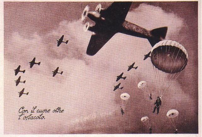 Paracadutisti italiani (dell'eroica 185ma Divisione Folgore) ad El Alamein.