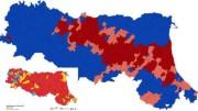 Una buona parte dell'Emilia Romagna è già di destra. Qui come si è distribuito il voto sul territorio. In basso a sinistra come la regione era prima.