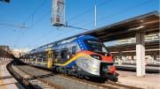 """Il Treno Pop """"europelovesicily"""" acquistato con il provvido utimizzo di fondi europei dalgoverno regionale."""