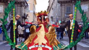 Educarnival: un'immagine del 2019 scattata in Piazza Vigliena (4 Canti di Città)