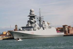 La Virginio Fasan,una delle moderne 'fregate' in dotazione alla Marina italiana.