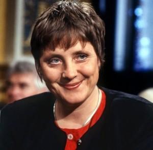 La giovane Rebecca oggi Angela Merkel