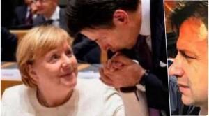'Giuseppe fa il baciamano ad Angela'. Non manca mai agli italiani un tocco di galanteria.Ma questa potrebbe adesso rivelarsi pura forma...