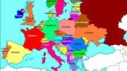 Europa: si veda come la Russia - in rosso cupo - ne faccia parte. C'è molta Parigi a San Pietroburgo e molto di questa a Parigi (Cultura, filosofia, arte...)