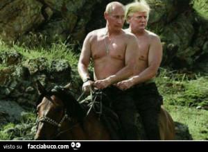 Una gustosa vignetta: Trump e Putin, uomini intelligenti colloquiano in amicizia. E' una svolta per il mondo.