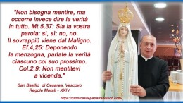 Un'immagine di Don Alessandro Minutella da lui stesso realizzata quando era ancora nella sua parrocchia a Romagnolo.
