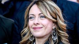 Giorgia Meloni fotografata a Venezia, nel corso della manifestazione di Fratelli d'Italia sulla sicurezza.