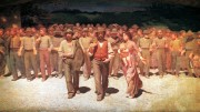 Maggi Giovanni foto:  Il Quarto Stato il bel dipinto che ha reso famoso il figurativista Pellizza da Volpedo.
