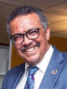 Tedros Adhanom Ghebreyesus direttore generale OMS. Laureato e specializzatosi in Europa, è considerato un luminare nella lotta contro la malaria.E' stato anche ministro degli esteri dell'Etiopia.