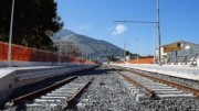 Un tratto della linea già in doppio binario che, partendo da Fiumetorto, dopo Termini Imerese, dovrebbe raggiungere Cefalù: si lavora da anni con tempi giurassici e la cittadina normanna è ancora lontana.