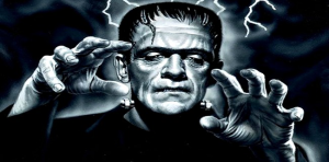 Frankenstein, l'immaginario essere costruitoinlaboratorio che fece spaventare i bimbi già nell'altguerra.E allora non si cercava diriprodurre ancora la cellula vivente...