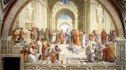 Raffaello Sanzio nel suo famoso dipinto 'La scuola di Atene' mostra di conoscere ed aver ben compreso la fondamentale opposizione fra il pensiero di Parmenide ed Eraclito che dipinge al centro della scena: i due 'pensieri' rappresentano sin dall'antichità la dicotomia che divide moralmente l'umanità. Eraclito rappresenta la molteplicità e il movimento del pensiero liberale in contrasto con Parmenide che elabora una visione statica dell'esistente che vede nella sua immutabilità. L'idea viene condivisa da Platone e - nella sostanza -ha un contenuto 'immorale'.  Se ne accorsero, sia Platone stesso, sia il suo epigono Sant'Agostino :se la realtà è immutabile o già perfetta, qual'è il ruolo morale dell'individuo e dell'intera umanità? Nella visione cristiana questi sono chiamati da Dio a condividere la lotta contro il Male.