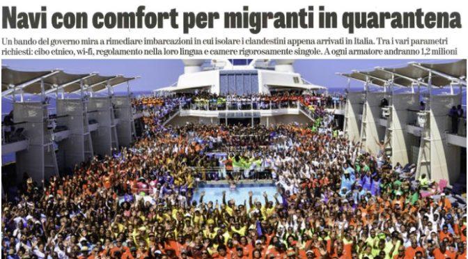 'Gran crociera' per i clandestini, stipati - comunque come bestie. E a Palermo a ditruggere gli interni dell'Ammiraglia Rafaele Rubattino...