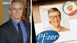 Ora Bill Gates ha un avversario potente: Robert Kennedy Jr (a sx). Il suo interesse per i vaccini di massa desta sempre più sospetti