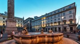 Roma,Palazzo Chigi sede del Governo della Repubblica Italiana e residenza del presidente del Consiglio dei ministri, adiacente al palazzo Montecitorio. (Foto stock free)