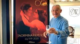 Un fotomontaggio dal Taormina Film Fest: Leo Gullotta, dinamico e competente, sembra l'anima non certo segreta di questa edizione...