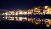 Notturno a Città del mare tradizionale teatro del Travel Expo