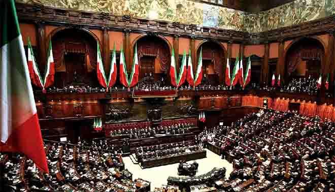 La camera dei deputati opera dell'architetto palermitano Ernesto Basile, maestro del Liberty.