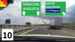 LaCatania Siracusa, su un tratto tantoimportante quanto stoicamente'sofferto', è l'utostrda piùmoderna imn Sicilia.maundosicolegherà del tutto anche a Ragusa e poi a Gela e Agrigento lungo il mare? un tratto molro atteso ...da anni.