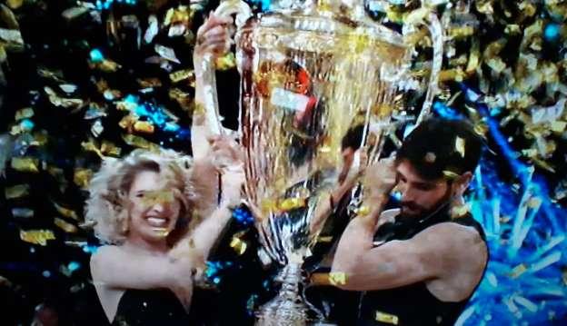 Gilles Rocca e Lucrezia Lando  campioni 2020  al 'Carlucci Show'
